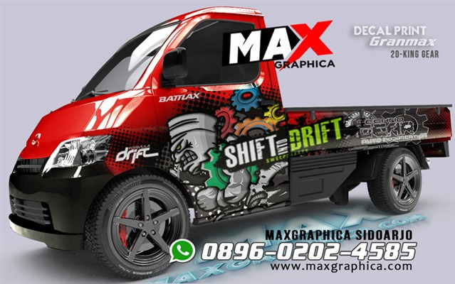 sticker grandmax pickup maxgraphica cutting sticker sidoarjo